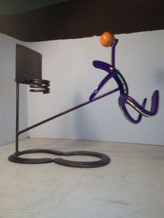 Slam Dunk! Metal Art Basketball player.