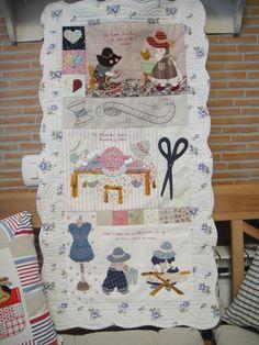 Sue Bonnet patchwork aplicacion japonesa, plancha, lavar coser bordar.