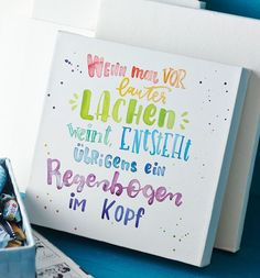 """""""Writing meets stretcher bars"""" Book by Kirsten Albers and Alice Rögele Motivational Quotes For Life, True Quotes, Inspirational Quotes, Brush Lettering, Hand Lettering, Book Bar, Script, Just Dream, More Than Words"""