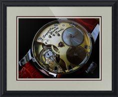 "A. Lange & Sohne Swiss Watch // Paper: enhanced matte; Glazing: acrylic; Moulding: black, black step; Top Mat: black/gray, brushed silver; Middle Mat: red, cabernet; Bottom Mat: tan, seaside // Price starts at $159 (Petite: 22"" x 24""). // Customize at http://www.imagekind.com/A-Lange--Sohne-Swiss-Timepiece_art?IMID=f59c96d5-ffd1-4161-90e3-0361617473b8"