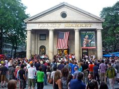 Quincy Market, Boston MA: http://visitingnewengland.com/fanueil-hall.html #quincymarket #boston