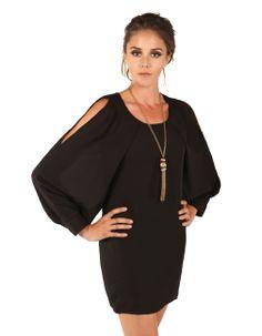 Tribeca Exchange | Cold shoulder wing dress