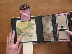 6x6 Scrapbook Mini Album with Tim Holtz Wallflower Paper Stack (Birds, b...