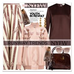 """""""Hot NYFW Runway Trendand PaoloShoes"""" by spenderellastyle ❤ liked on Polyvore featuring Raey, Emilia Wickstead, STELLA McCARTNEY and Hedi Slimane"""