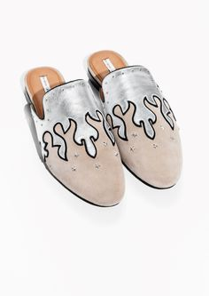 & Other Stories image 2 of Metallic Flames Slip-In Loafers in Metallic
