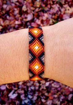 Items similar to Autumn Bonfire Friendship Bracelet on Etsy Embroidery Floss Bracelets, Thread Bracelets, Beaded Bracelets, String Bracelets, Summer Bracelets, Cute Bracelets, Ankle Bracelets, Homemade Bracelets, Diy Friendship Bracelets Patterns