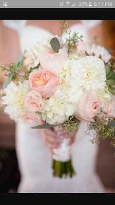 Romantic peach and soft yellow bouquet
