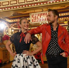 Red Leather, Leather Jacket, Derek Hough, Jackets, Fashion, Studded Leather Jacket, Down Jackets, Moda, Leather Jackets