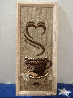 Most Creative Gardening Design Ideas - New ideas Burlap Crafts, Diy Home Crafts, Easy Diy Crafts, Diy Arts And Crafts, Quilling Paper Craft, Paper Crafts, Diy Para A Casa, Coffee Bean Art, Painted Pinecones