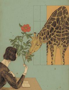 Kenya series on Behance Movie Prints, Poster Prints, Art Prints, Love Illustration, Cute Drawings, Giraffe, Art Projects, Digital Art, Behance