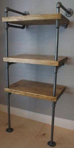 Shelving - Industrial Pipe Media Shelves