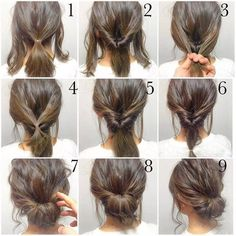Super Easy Updo Medium Length Hairs And Medium Lengths On Pinterest Hairstyles For Women Draintrainus