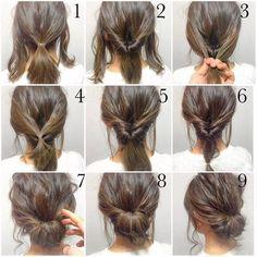 Peachy Easy Updo Medium Length Hairs And Medium Lengths On Pinterest Short Hairstyles For Black Women Fulllsitofus