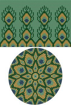 """The location where building and construction meets style, beaded crochet is the act of using beads to decorate crocheted products. """"Crochet"""" is derived fro Crochet Bedspread Pattern, Tapestry Crochet Patterns, Crochet Stitches Patterns, Knitting Patterns, Beading Patterns, Cross Stitches, Loom Patterns, Loom Beading, Basket Weave Crochet"""