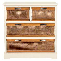 Virginia 4-Drawer Storage Unit, Ivory $279.00