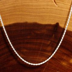 24 Solid Sterling Silver Diamond Cut Rope Chain 2 by AntiquesNXS