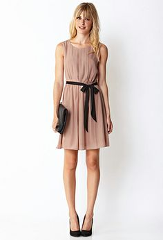 #ForeverHoliday   Sweet Side Pleated Dress w/ Sash | FOREVER21 - 2031557849