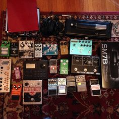 """wavveswavves: """" every pedal, drum machine, mic & pre amp we used on this wavves x cloud nothings record """""""