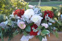 Your place to buy and sell all things handmade Fireplace Garland, Red Hydrangea, Bbq Island, Rose Bouquet, Poinsettia, Garlands, Peonies, Beautiful Flowers, Red And White