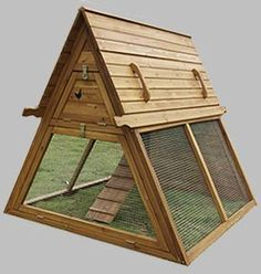 Portable Chicken Coop for 3 to 5 hens – Handcrafted Hen House Kit for Sale – Best Coop for Raising Chickens in Urban and Backyard Runs – Our Mobile Tractor Supplies Home Raised Eggs and Superior Nutrition Daily — by Handcrafted Coops A Frame Chicken Coop, Diy Chicken Coop Plans, Portable Chicken Coop, Backyard Chicken Coops, Building A Chicken Coop, Chickens Backyard, Chicken Coup, Backyard Coop, Chicken Coop Designs