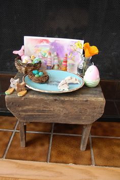 Set up nature table for kids to put stuff they find on over the summer