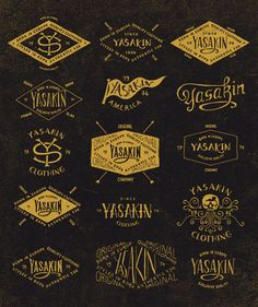 Hand lettering - Yasakin by BMD Design , via Behance