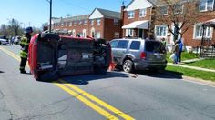 EARLIER TODAY MOTOR VEHICLE ACCIDENT WITH ROLLOVER IN THE 1900 BLOCK OF CHURCH ROAD IN DUNDALK MARYLAND