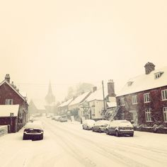 Our village in snow