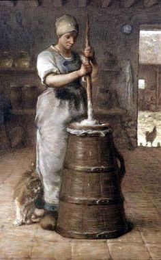 1867 Mujer en la mantequera