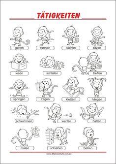 Learn German, German Language, Education, Learning, School, Blog, Kids, Montessori Activities, Verbs For Kids