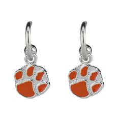 Clemson Tigers Dangle Logo Earrings J and D Jewelry and More http://www.amazon.com/dp/B00YM3OOS0/ref=cm_sw_r_pi_dp_cVScwb12KT01T
