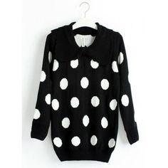 Black Dot Dot Butterfly Brought Sweater ($39) via Polyvore