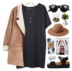 """""""#838"""" by maartinavg ❤ liked on Polyvore featuring Nearly Natural, Organic by John Patrick, Forever 21, HUF, Home Essentials, Truffle, Pier 1 Imports and Charlotte Russe"""