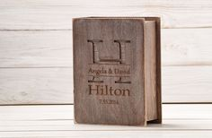 Rustic Wedding Guest Book Custom Wood Wedding Guestbook Wedding Present Anniversary Gift Bride and Groom Bridal Shower Book Photo Album A-15 by InesesWeddingGallery on Etsy