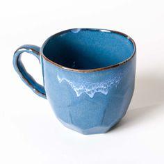 Blue Cumulus Ceramic Mug - $14