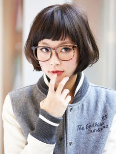 Cut + Natural Ombre by Mazele Hair Short Hair Lengths, Short Hair With Bangs, Girl Short Hair, Short Hair Cuts, Short Hair Styles, Asian Short Hair, Asian Hair, Asian Bangs, Hairstyles With Bangs