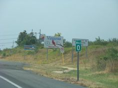 July 2011 - Entering Virginia from Maryland on Interstate 81