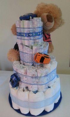 Racing Diaper Cake.  Cost... $60