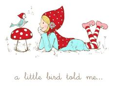 A Little Bird Told Me Illustration by alittlesweetness on Etsy, $20.00