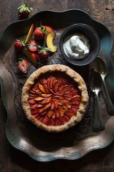 Strawberry and Nectarine Galette   Bakers Royale