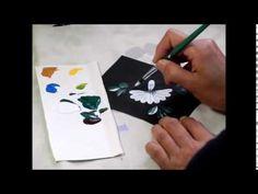【トールペイント】描き方①マーガレット Marguerite - YouTube