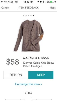 Kind of digging the sweater with patches on the elbows look.