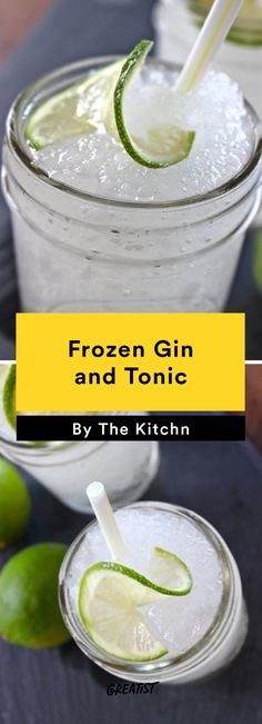 9. Frozen Gin and Tonic #cocktail #recipes https://greatist.com/eat/summer-cocktails-that-are-not-crazy-unhealthy