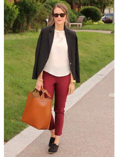 Trade in your tried-and-true flats for menswear-inspired oxfords. @Patti B Fisher Girl http://www.ivillage.com/30-days-street-style-fall/5-a-545658?cid=pin|9-18-13|94