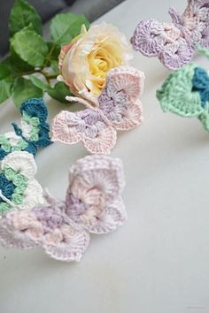 Butterfly Crochet Pattern - re-made by sam Crochet Classes, Crochet Butterfly, Crochet For Beginners, One Design, Sewing Tutorials, Crochet Earrings, Crochet Patterns, Product Launch, Retro