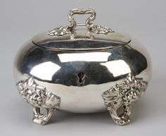 19th c. ladies' silver jewelry casket, marked