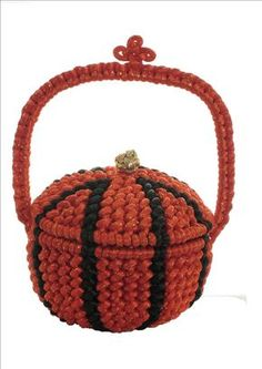 Cazuela Textile Fiber Art, Macrame Bag, Paracord Bracelets, Decoration, Chinese Knotting, Basket, Diy, Crafts, Textiles