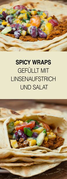 Für alle die Wraps mögen ist dies genau das richtige Rezept. Gefüllt mit selbst gemachtem Linsenaufstrich und Salat schmecken sie einfach klasse. Ein lecker Rezept zum Abend- oder Mittagessen oder fürs Picknick im Sommer.