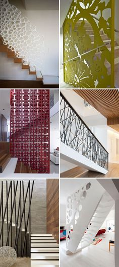 Here are 11 examples of creative safety railings on stairs that show how railings don't have to be boring and can be the focal point in a house.