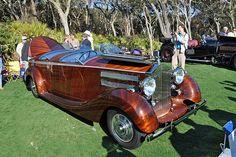 1938 Rolls-Royce Wraith finished in Peruvian Walnut. Amelia Island winner
